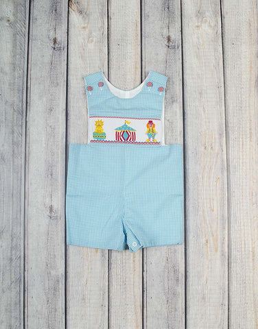 Smocked Circus Jon Jon - Boys - Stellybelly - 1