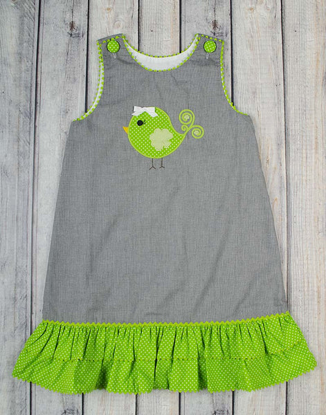 Clover Birdie A-Line Dress - Girls - Stellybelly - 1
