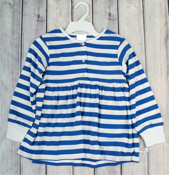 Size 8 Girls Royal Stripe Empire-Top Shirt -  - Stellybelly