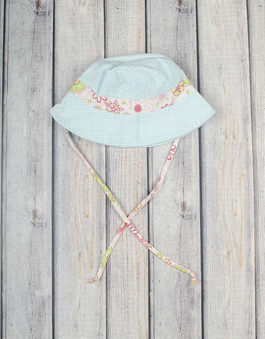 Aqua Gingham Bucket Hat -  - Stellybelly
