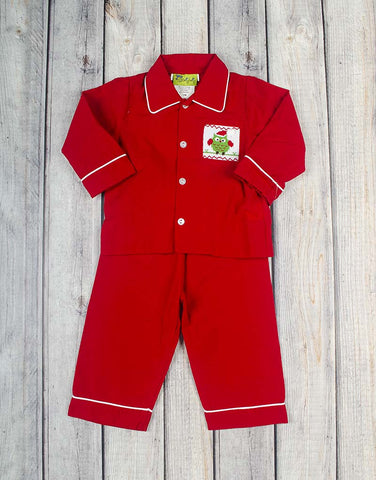 Smocked Christmas Owl Boys Loungewear - Boys - Stellybelly