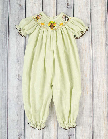 Smocked Thanksgiving Pals Long Bubble - Girls - Stellybelly - 1