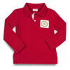 Smocked Crown LS Polo