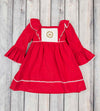 Smocked Crown LS Peasant Dress