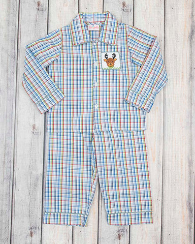 Smocked Reindeer Boys Loungewear