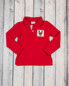 Smocked Reindeer LS Polo