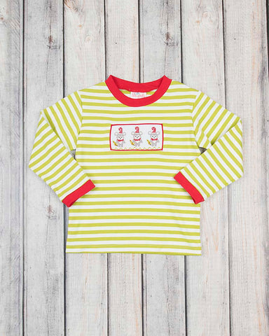 Smocked Santa Mice LS Shirt