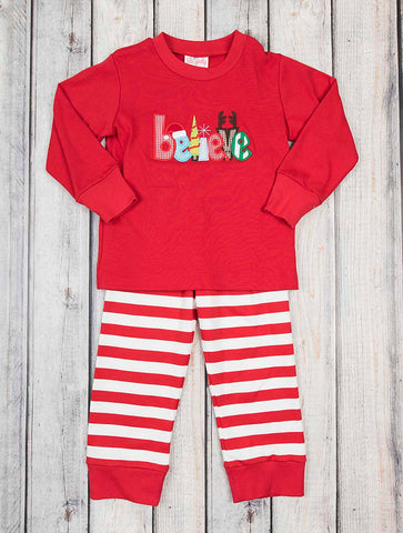 Believe Applique Unisex Loungewear