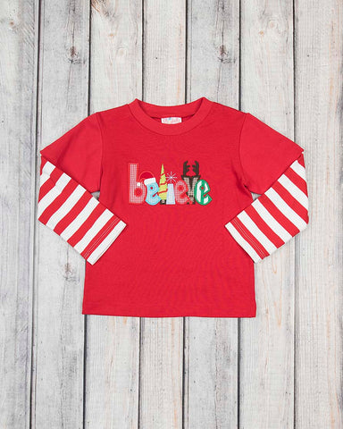 Believe Applique LS Shirt
