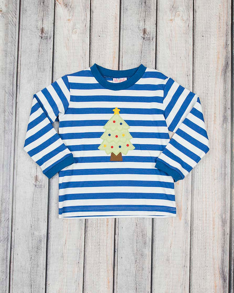 Christmas Tree Applique LS Shirt