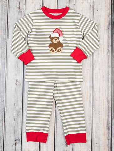 Teddy Bear Applique Boys Loungewear