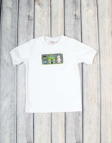 Smocked Monster House T-Shirt - Boys - Stellybelly - 1