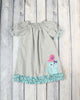 Kitty Bird Applique Stella Puff Sleeve Dress - Girls - Stellybelly - 1