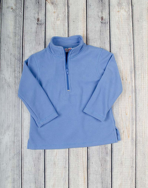 Unisex Flag Blue Half-Zip Fleece Pullover - Unisex - Stellybelly - 1