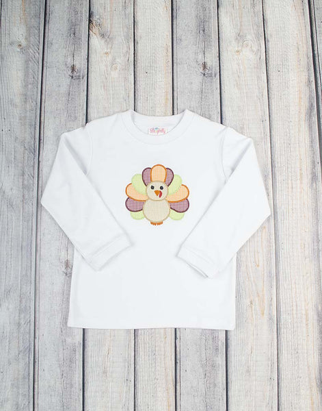 Turkey Applique LS T-Shirt - Boys - Stellybelly - 1