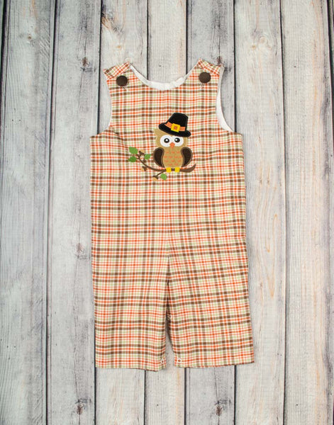 Pilgrim Owl Applique Longall - Boys - Stellybelly - 1