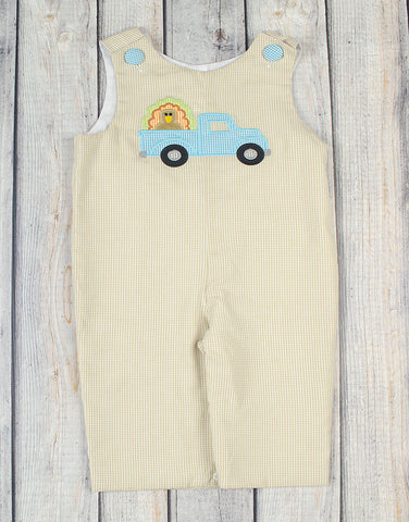 Turkey Truck Applique Longall - Boys - Stellybelly - 1