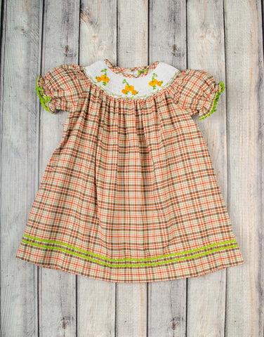 Smocked Pumpkin Vine Bishop - Girls - Stellybelly - 1