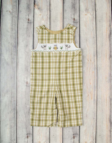 Smocked Raccoon Longall - Boys - Stellybelly - 1