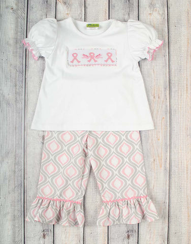 Smocked Wings of Hope Smocked Ruffle Pant Set - Girls - Stellybelly - 1
