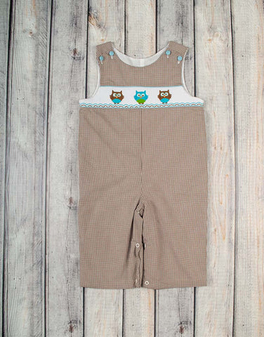 Smocked Owl Longall - Boys - Stellybelly - 1