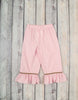 Smocked Pink Mallards Ruffle Pant Set - Girls - Stellybelly - 2
