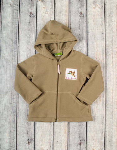 Girls Smocked Mallard Fleece Hoodie - Girls - Stellybelly - 1