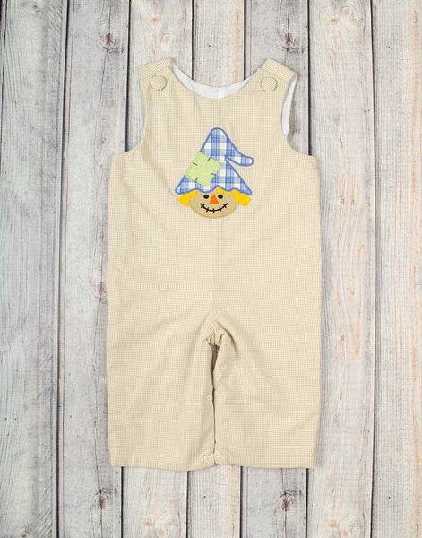Scarecrow Applique Longall - Boys - Stellybelly - 1