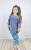 Teal Dot Ruffle Leggings - Girls - Stellybelly - 2