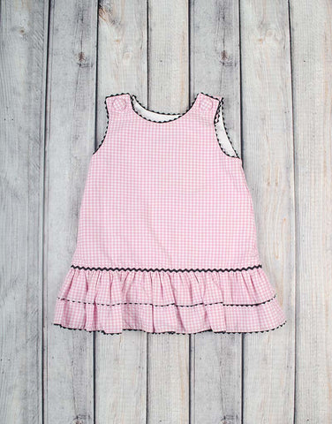 Pink Gingham A-Line Dress - Girls - Stellybelly - 1