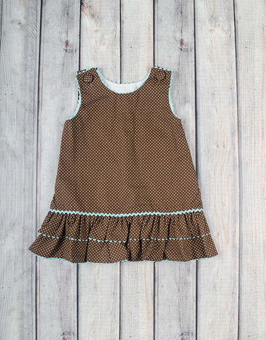 Brown Dot A-Line Dress - Girls - Stellybelly - 1