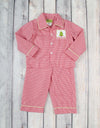 Boys Red Smocked Christmas Tree Loungewear - Boys - Stellybelly - 1