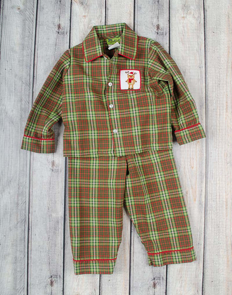 Boys Plaid Reindeer Loungewear - Boys - Stellybelly - 1
