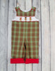 Smocked Plaid Reindeer Longall with Roll-Up Cuff - Boys - Stellybelly - 1