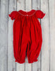Smocked Candy Cane Long Bubble - Girls - Stellybelly - 2