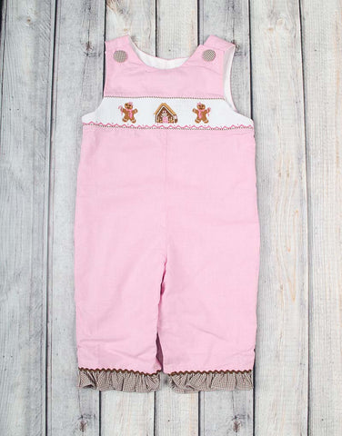 Smocked Gingerbread Ruffle Romper - Girls - Stellybelly - 1