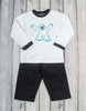 Abominable Snowman Applique Pant Set - Boys - Stellybelly - 1