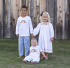 Smocked White Nativity Longall - Boys - Stellybelly - 4
