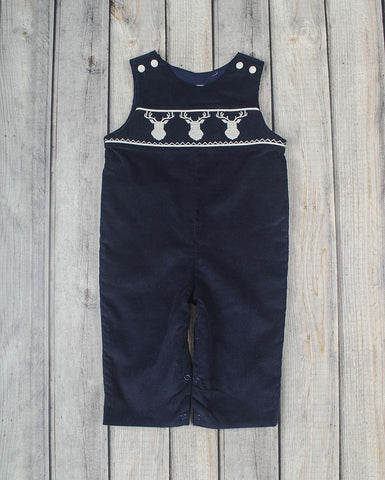 Smocked Deer Longall - Boys - Stellybelly - 1