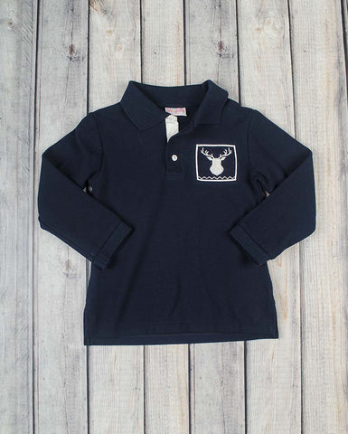 Smocked Deer Polo - Boys - Stellybelly - 1