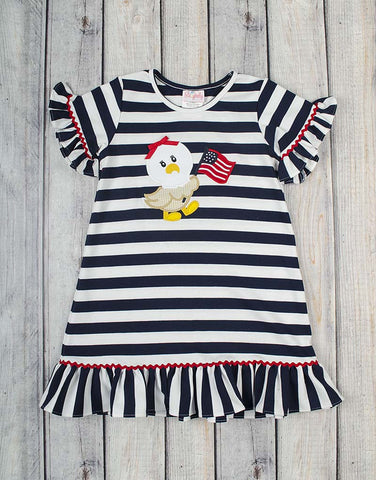 Freedom Eagle Applique Dress - Girls - Stellybelly - 1