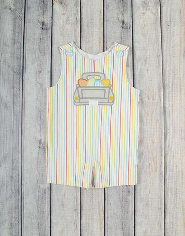 Egg Truck Applique Jon Jon - Boys - Stellybelly - 1