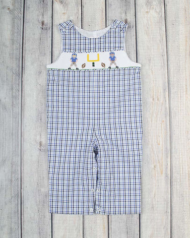 End Zone Smocked Longall - Boys - Stellybelly - 1