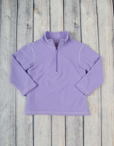 Frosty Lavender Fleece Half-Zip - Girls - Stellybelly - 1