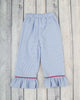 Smocked Blue Santa Girls Pant Set - Girls - Stellybelly - 2