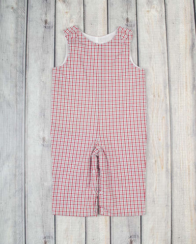 Gray/Red Plaid Basic Longall - Boys - Stellybelly - 1