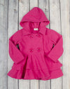 Fuchsia Fleece Peacoat - Girls - Stellybelly