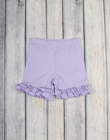 Lavender Ruffle Knit Shorts - Girls - Stellybelly - 1