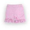 Light Pink Dot Ruffle Knit Shorts