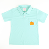 Embroidered Pumpkin Mint Knit Polo